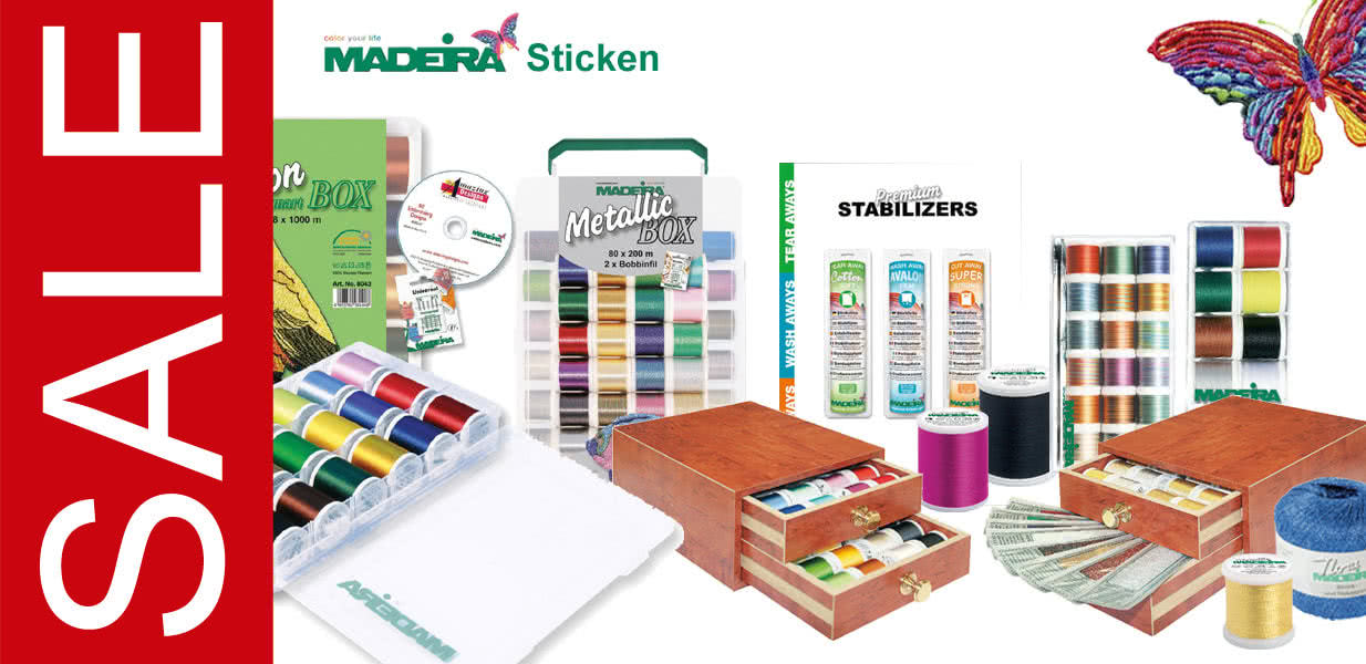 Banner Madeira Sticken SALE